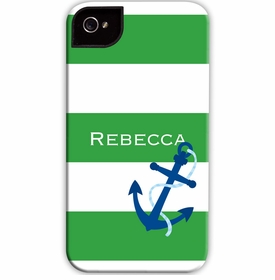 boatman geller stripe anchor cell phone case