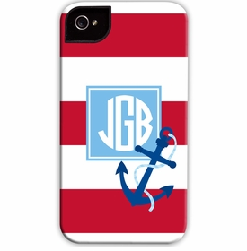 boatman geller stripe anchor red cell phone case