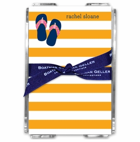 boatman geller stripe flip flops acrylic note sheets
