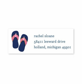 boatman geller stripe flip flops address labels