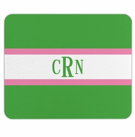 boatman geller stripe kelly & bubblegum mouse pad
