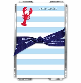 boatman geller stripe lobster acrylic note sheets