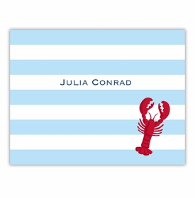 boatman geller stripe lobster foldover note