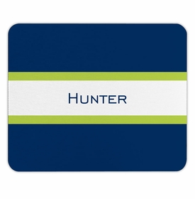 boatman geller stripe navy & lime mouse pad