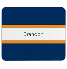 boatman geller stripe navy & tangerine mouse pad