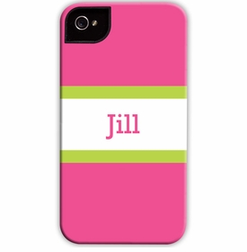 boatman geller stripe raspberry & lime cell phone case