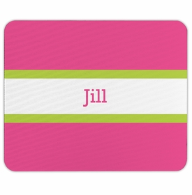 boatman geller stripe raspberry & lime mouse pad