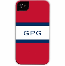 boatman geller stripe red & navy cell phone case