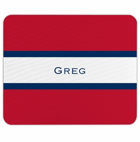 boatman geller stripe red & navy mouse pad