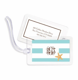 boatman geller stripe starfish bag tags