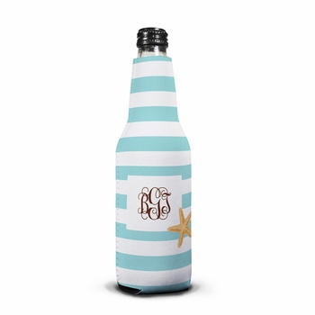 boatman geller stripe starfish bottle koozie