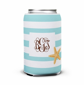 boatman geller stripe starfish can koozie