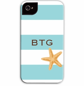 boatman geller stripe starfish cell phone case