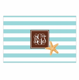 boatman geller stripe starfish disposable placemats