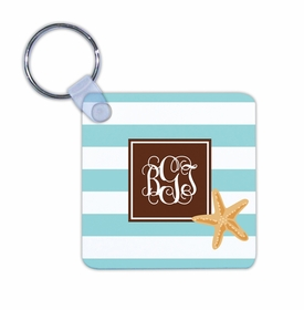 boatman geller stripe starfish key chain