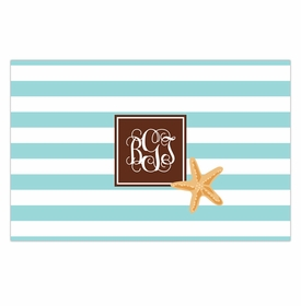 boatman geller stripe starfish placemat
