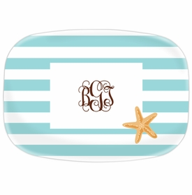 boatman geller stripe starfish platter