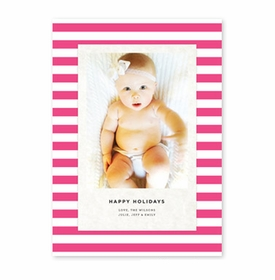 boatman geller striped classic hot pink photocard