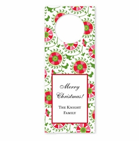 boatman geller suzani holiday wine tags
