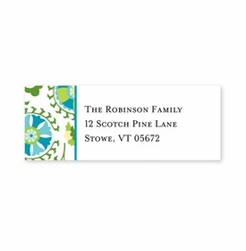 boatman geller suzani teal address labels