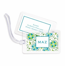 boatman geller suzani teal bag tags