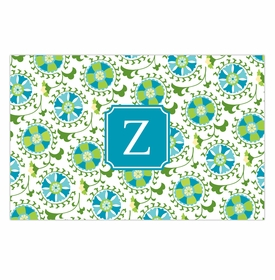 boatman geller suzani teal disposable placemats