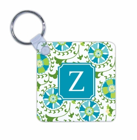 boatman geller suzani teal key chain