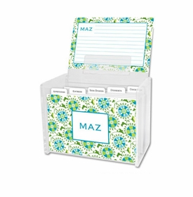 boatman geller suzani teal recipe box