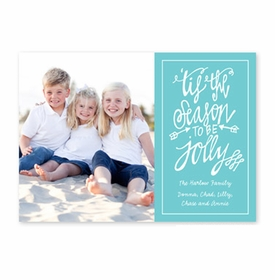 boatman geller tis the season teal photocard