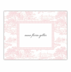 boatman geller toile pink foldover note