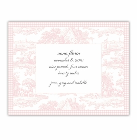 boatman geller toile pink small flat notecard