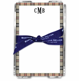 boatman geller town plaid acrylic note sheets