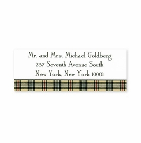 boatman geller town plaid address labels