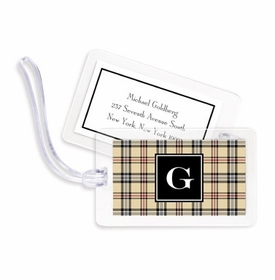 boatman geller town plaid bag tags