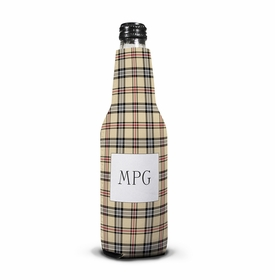 boatman geller town plaid bottle koozie