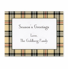 boatman geller town plaid calling card
