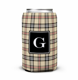 boatman geller town plaid can koozie