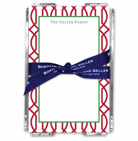 boatman geller trellis reverse cherry acrylic note sheets