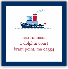 boatman geller tug square sticker