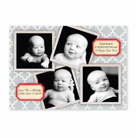 boatman geller vintage collage gray photocard