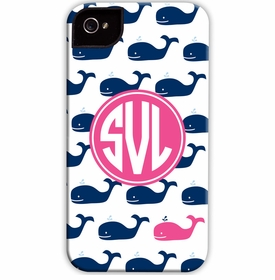 boatman geller whale repeat navy cell phone case