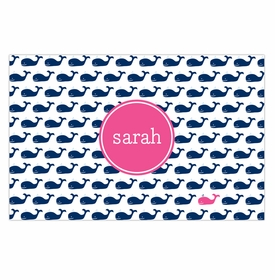boatman geller whale repeat navy disposable placemats
