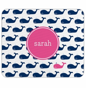 boatman geller whale repeat navy mouse pad