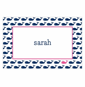 boatman geller whale repeat navy placemat