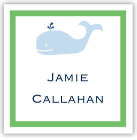 boatman geller whale square sticker