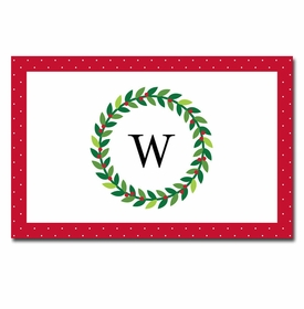 boatman geller wreath placemat
