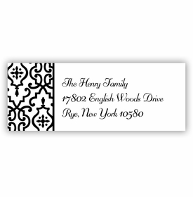 boatman geller wrought iron black address labels