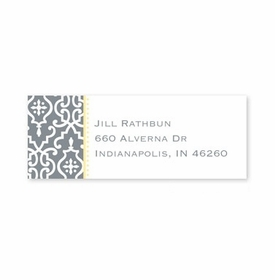boatman geller wrought iron gray address labels