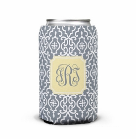 boatman geller wrought iron gray can koozie