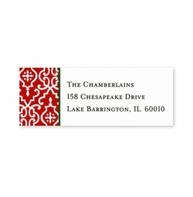boatman geller wrought iron red address labels
